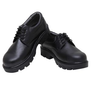 Buy Firemark Men's Black Leather Trekking Shoes-1 online