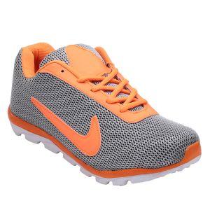 Buy Firemark Uniq Nike Men's Shoes (us-115-grey-orange) online