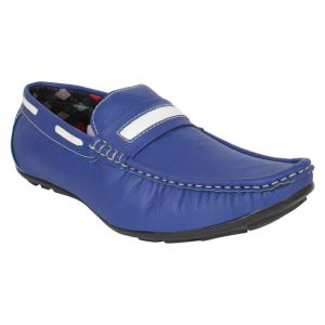 Buy Firemark Mens Artificial Leather Blue Slip On Loafers - (product Code - Frical-202blu) online
