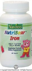 Buy Navitco. Nutribear Iron 5 Mg Jellies - 60 Bears online