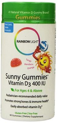 Rainbow Light Vitamin D3 Sunny Gummies, 400 Iu, 60-Count Bottle