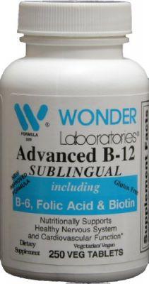 Buy Sublingual Vitamin B12 (1000 Mcg), B6 (5mg), Folic Acid(400 Mcg) & Biotin (25mcg) - 250 Sublingual Tablets - online