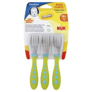 Gerber Graduates Kiddy Cutlery 3 Piece Fork Set
