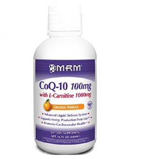 Buy MRM Co-Q10 100 mg W/ L-CARNITINE 1000 mg Orange-Vanilla Flavor 16oz. online