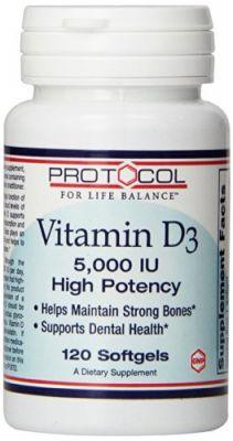 Vitamin D-3 5,000 IU 120 Softgels