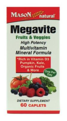 Buy Mason Vitamins Megavite Fruits And Veggies Mineral Formula, 60 Count online