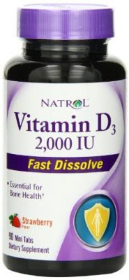Buy Natrol Vitamin D3 2000iu Mini Tabs, Strawberry, 90 Count online