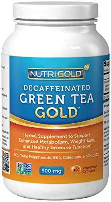 Buy #1 Green Tea Extract - Green Tea Gold, 500 Mg, 180 Vegetarian Capsules - Decaffeinated Green Tea Fat Burner Supplement For Weight-loss online