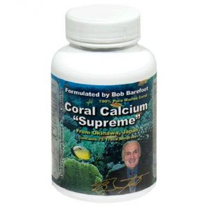 Buy Coral Calcium Supreme 1000mg Formulated & Endorsed By Bob Barefoot 90 Caps New Improved Formula online