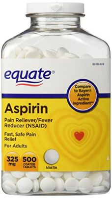 Buy Equate - Aspirin 325 Mg, Original Strength, 500 Coated Tablets, Pain Reliever (compare To Bayer) online