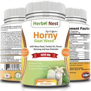 Buy Horny Goat Weed Extract With Maca Root, Tongkat Ali, Panax Ginseng, Saw Palmetto & 6 Other Ingredients online