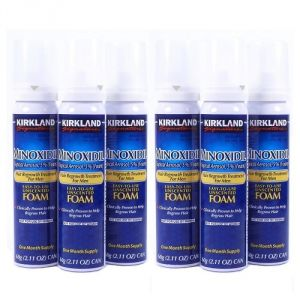 Buy Kirkland Minoxidil Topical Aerosol 5 Percent Foam - Hair Regrowth Treatment 6 Months Supply online