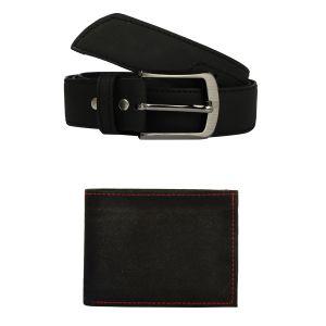 Buy Exotique Men's Black Casual Belt & Wallet Combo (ec0024bk) online