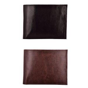 Buy Exotique Men's Black & Brown Formal Wallet Combo (ec0026mu) online