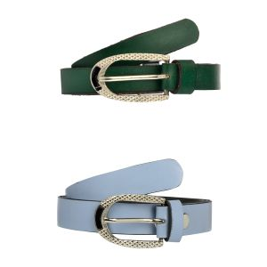 Buy Exotique Women's Green & Blue Casual Belt Combo (wc0002mu) online