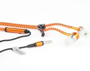 Buy Spider Designs Sd-55 Zip Bass Bomb Earphone With Mic (orange) online