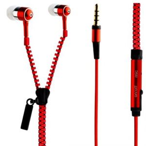 Buy Spider Designs Sd-55 Zip Bass Bomb Earphone With Mic (red) online