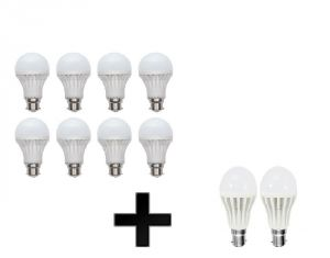 Buy Vizio Combo Of 3 W LED Bulbs( Set Of 2) With 7 W LED Bulbs(set Of 8) online