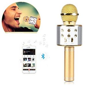 Buy Q9 Q7 Ws-858 Wireless Bluetooth Karaoke Mic Player Speaker Ktv Microphone USB online