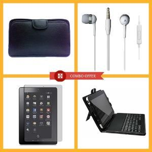 Buy Vizio Keyboard, Soft Case, 7 Inch Tablet Screen Protector, Earphone Combo Set (multicolor) online