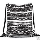Buy Aeoss Canvas Aztec Geometric Tribal Print Drawstring Gym College School Backpack Bag online