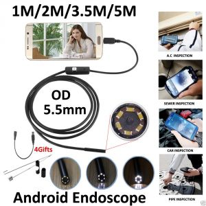 Buy Aeoss 5.5mm Lens Micro USB Otg Android USB Boroscope Endoscope Camera 2 Meter online