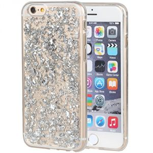 Buy Aeoss Ultra Thin Gold Foil Bling Glitter Soft Silicone Tpu Back Cover Case For iPhone online