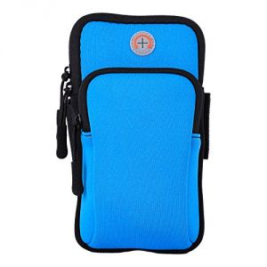 Buy Aeoss Waterproof Sport Armband Unisex Running Jogging Gym Arm Band Case Cover (sky Blue) online