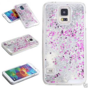 Buy Aeoss 3d Glitter Bling Star Waterfall Back Case Cover Cases For Samsung S5 online
