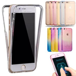 super popular 4875f ee474 Aeoss iPhone 7 Full Body Case Protect Transparent Tpu Silicone Flexible  Soft Full Body Protective Clear Case Cover For 7