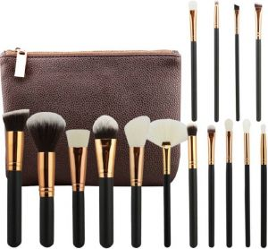 Buy Aeoss 15 PCs Rose Golden Complete Makeup Brush Set Professional Luxury online