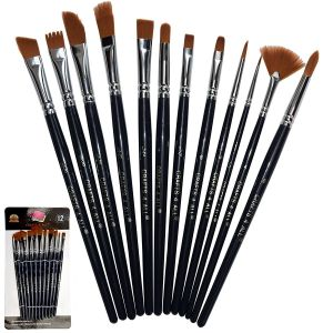 Buy Aeoss Paint Brushes 12 Pieces Set Professional Paint Brush online