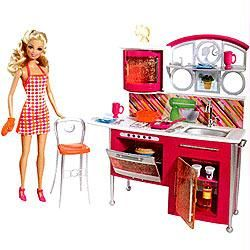 Buy Barbie Doll With Kitchen Set Box Online Best Prices In India