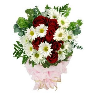 Buy White And Red Bunch online