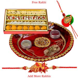 Buy Pooja Thali N Haldiram Tasty Assorted Sweets online