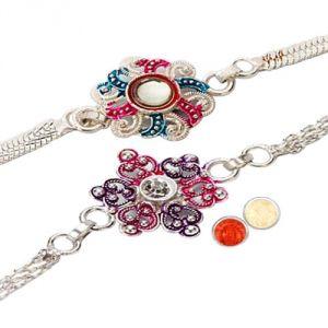Buy Designer Silver Plated Rakhi online