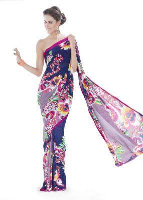 Buy Royal Choice Georgette Multicolor Saree-(code-16051) online