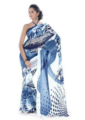 Buy Royal Choice Georgette Multicolor Saree-(code-16002) online