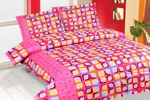 Buy Royal Choice Pink Cotton Double Bedsheet Alongwith Two Pillow Covers online