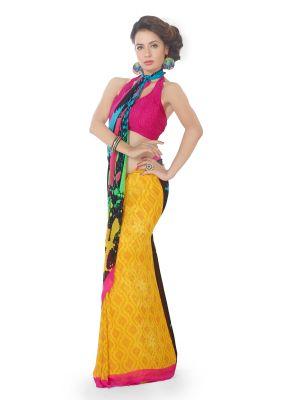Buy Royal Choice Georgette Multicolor Saree-(code-k17064) online