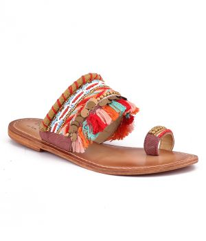 Buy Naughty Walk Multi Color Genuine Leather Sandals 709 online
