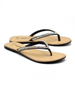 Buy Naughty Walk Black Genuine Leather Sandals online