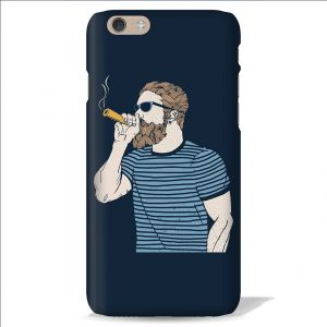 Buy Leo Power Beard Dude Navy Blue Printed Case Cover For Oneplus 3 online