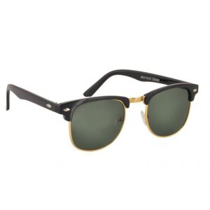 Buy Clubmaster Sunglasses Googles Black & Golden With Uv400 Lens For Men online