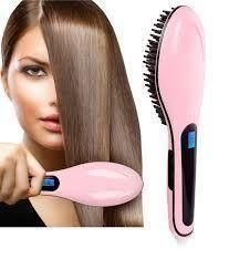 Buy Fast Hot Hair Straightener Comb Brush LCD Screen Flat Iron Styling online