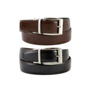 Buy Reversible Formal Leather Belt Black And Brown Rb2 online