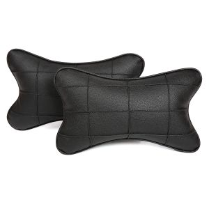 Buy Pegasus Premium Black-black Car Neck Pillow (set Of 2) (code - Black_blackboxes_2) online