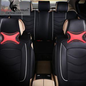 Buy Pegasus Premium Beige-black Car Neck Pillow (set Of 2) (code - Beige_centreblack_6) online