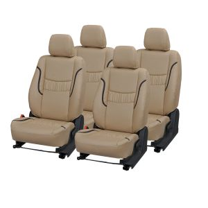 Buy Pegasus Premium I20 Car Seat Cover - (code - I20_beige_black_lotus) online
