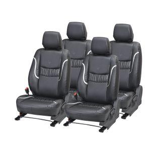 Buy Pegasus Premium Brio Car Seat Cover - (code - Brio_black_silver_lotus) online